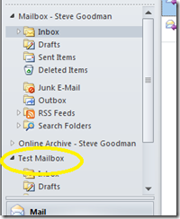 Auto-mapping shared mailboxes in Exchange 2010 with Outlook